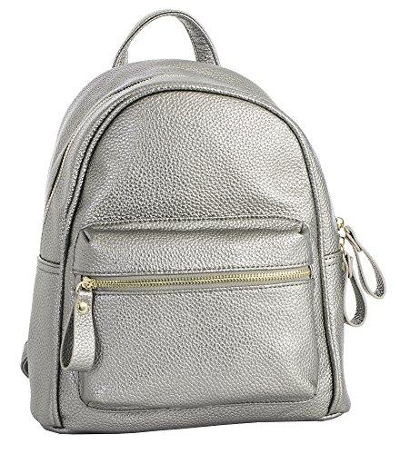 À Big 1 Au Design Pour Handbag Sac Grey Metallic Femme Porté Main Dos Shop rPftPwqp