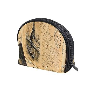 Amazon.com: Bolsa de cosméticos Vintage Postal Shell ...