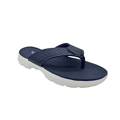 2900574f3951 KazarMax XXIV Mens' Navy Quilted Memory Foam Slippers (Size : 44) [MSL004