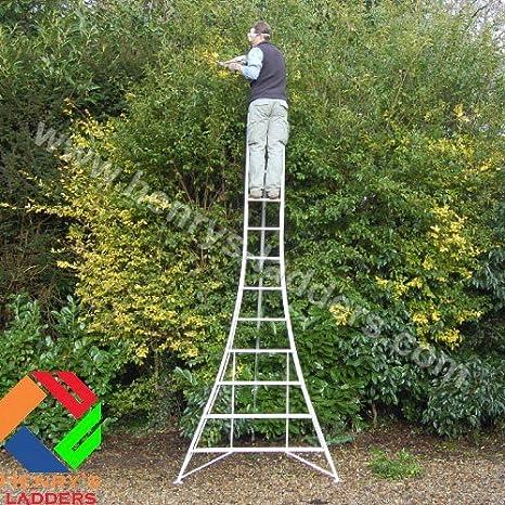 Henrys trípode Garden Rebecca hose y e-readers de plataforma de secuaz - 3.6m. Todos los 3 patas totalmente ajustable. Mantenimiento de jardín de aluminio ligero, de corte cortasetos, árbol de poda, fruit