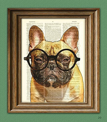 french bulldog art print - 2
