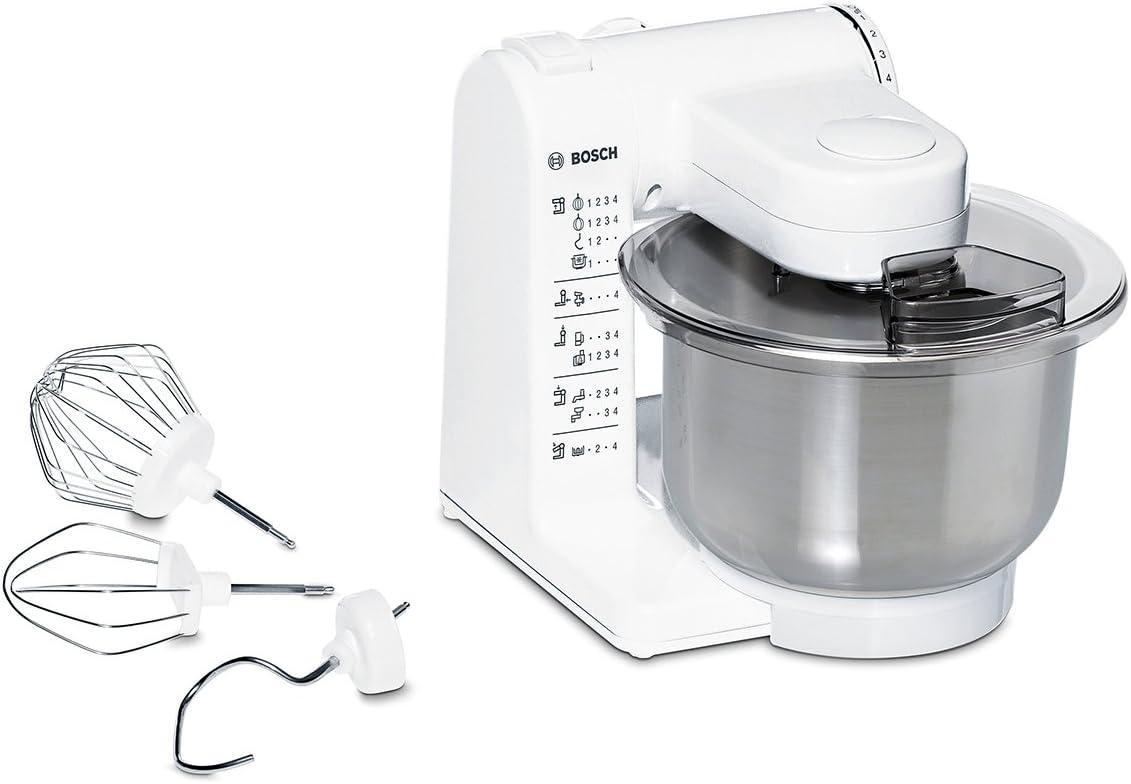 Bosch MUM4407 - Robot de cocina, (capacidad de 3.9 L, 4 velocidades, 500 W), acero inoxidable