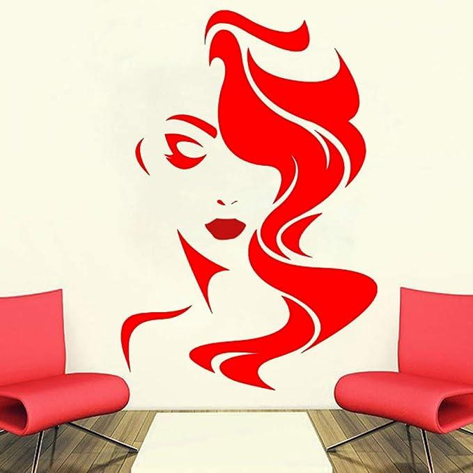 Ajcwhml Tatuajes de Pared Salón de Belleza para Labios Rojos ...