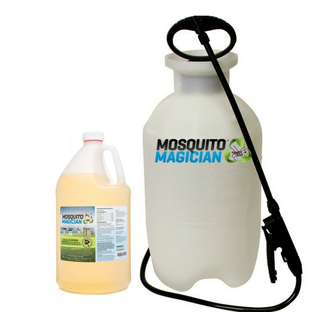 Mosquito Magician Pump Up Sprayer with 1 Gallon Natural Mosquito Killer & Repellent Concentrate