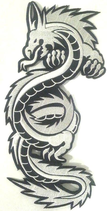 écusson brodé Appliqué coser Biker Dragón Chino pegatinas parche Badge Dragon de ropa grande talla