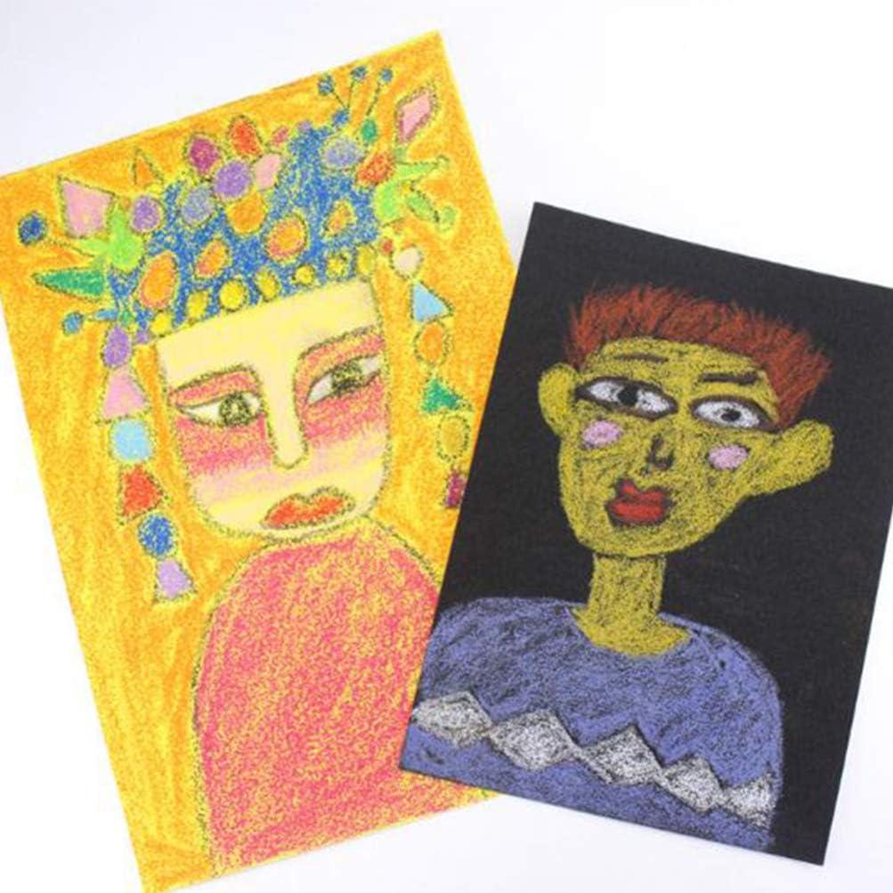 STOBOK Colorido Graffiti Papel de Lija Papel de Pintura A4 Almohadilla de Dibujo Pintura Al /Óleo Papel de Lija Arte DIY Herramienta de Pintura Pintor Favorece 10 Piezas