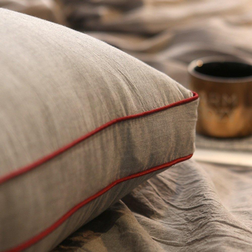 6 Colori 5 Taglie Disponibili ZEMIN Cuscino Cotone Testata Divano Letto Capo Singolo Doppio Morbido Capezzale Schienale Colore : A, Dimensioni : 100X20X50CM