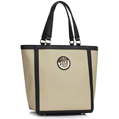 9f0250ae25f Womens Designer Shoulder Handbags Ladies Celebrity Style Faux Leather Tote  Bags