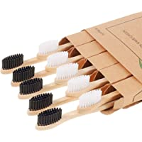 10 Pcs Bamboo Toothbrushes, Soft Bristles Toothbrush, Biodegradable Toothbrush, Natural Eco-Friendly Sustainable…