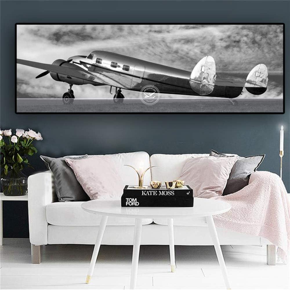 zxddzl Avión Retro Lienzo Arte Abstracto póster e impresión avión ...