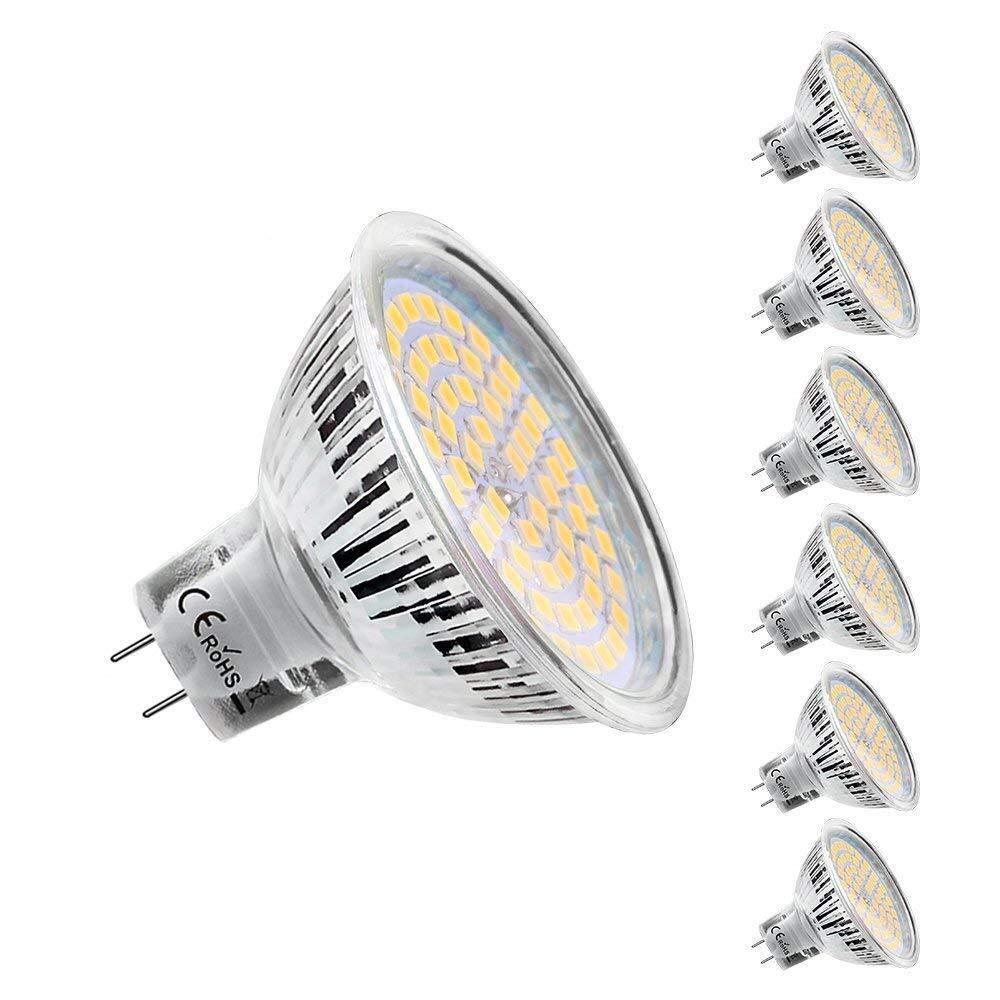 Lightone GU10 Bombilla LED, 450 lm, 50 W, equivalente a bombilla halógena, 6 unidades, Warm White, GU5.3, 5.30W 12.0V: Amazon.es: Iluminación