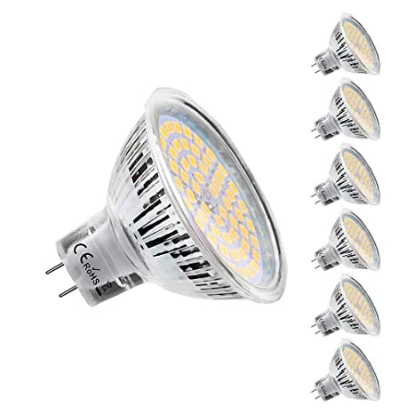 Bombillas LED GU5.3, MR16, 5 W, equivalentes a bombillas halógenas de