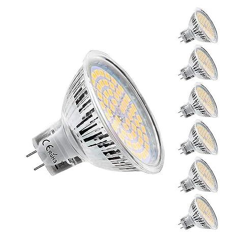 Lightone GU10 Bombilla LED, 450 lm, 50 W, equivalente a bombilla halógena, 6 unidades, Warm White, GU5.3, 5.30W 12.0V