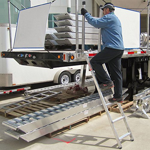 "Discount Ramps 72"" Transport Truck Step Deck Ladder for 36"" to 66"" Trailer Bed"