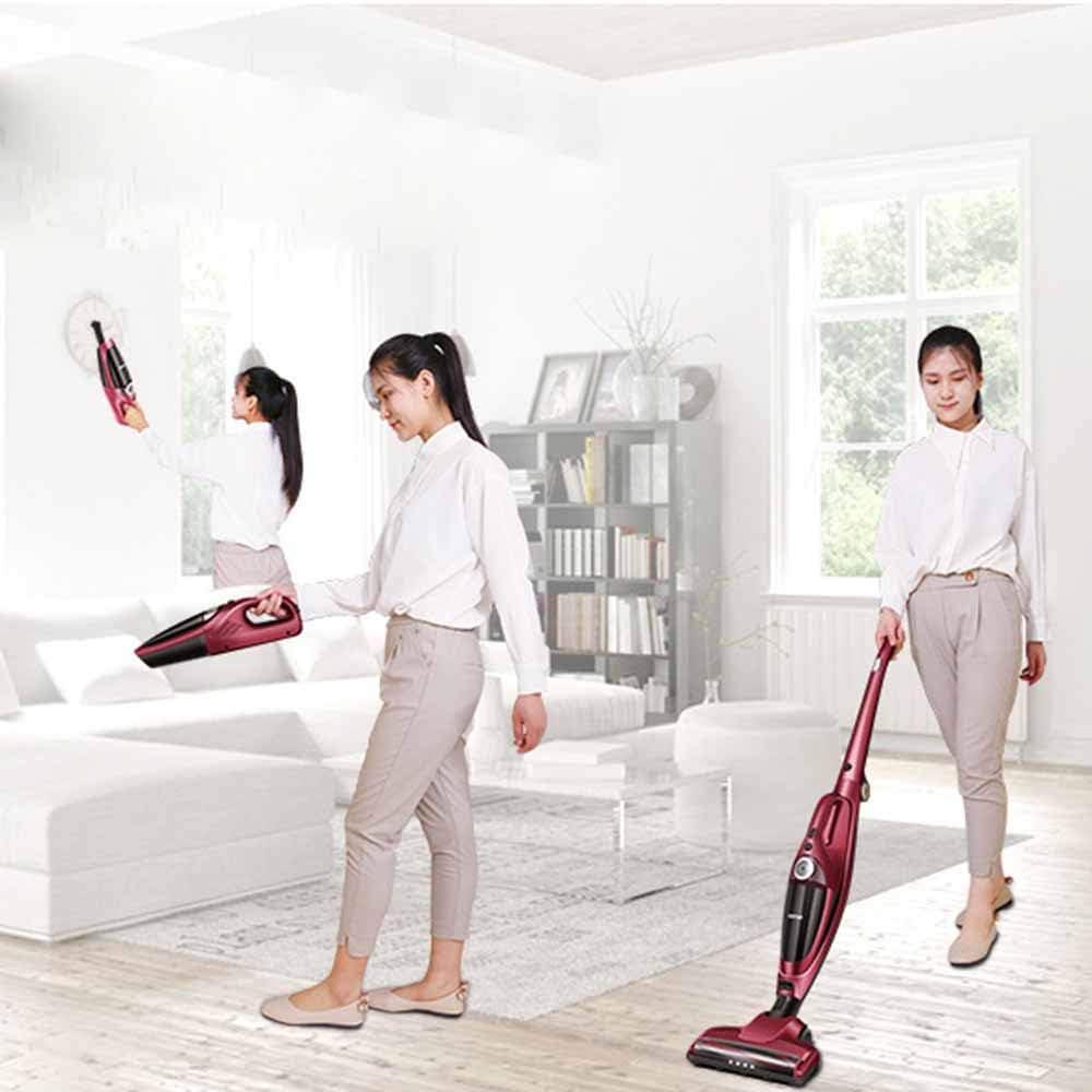 RZ Aspirador Escoba Aspiradora Sin Cable con luz LED, Ligero, 2200mAh Li-Ion, hasta 40 Minutos de Autonomía, succión Alta, para alfombras y Pisos Duros: Amazon.es: Hogar