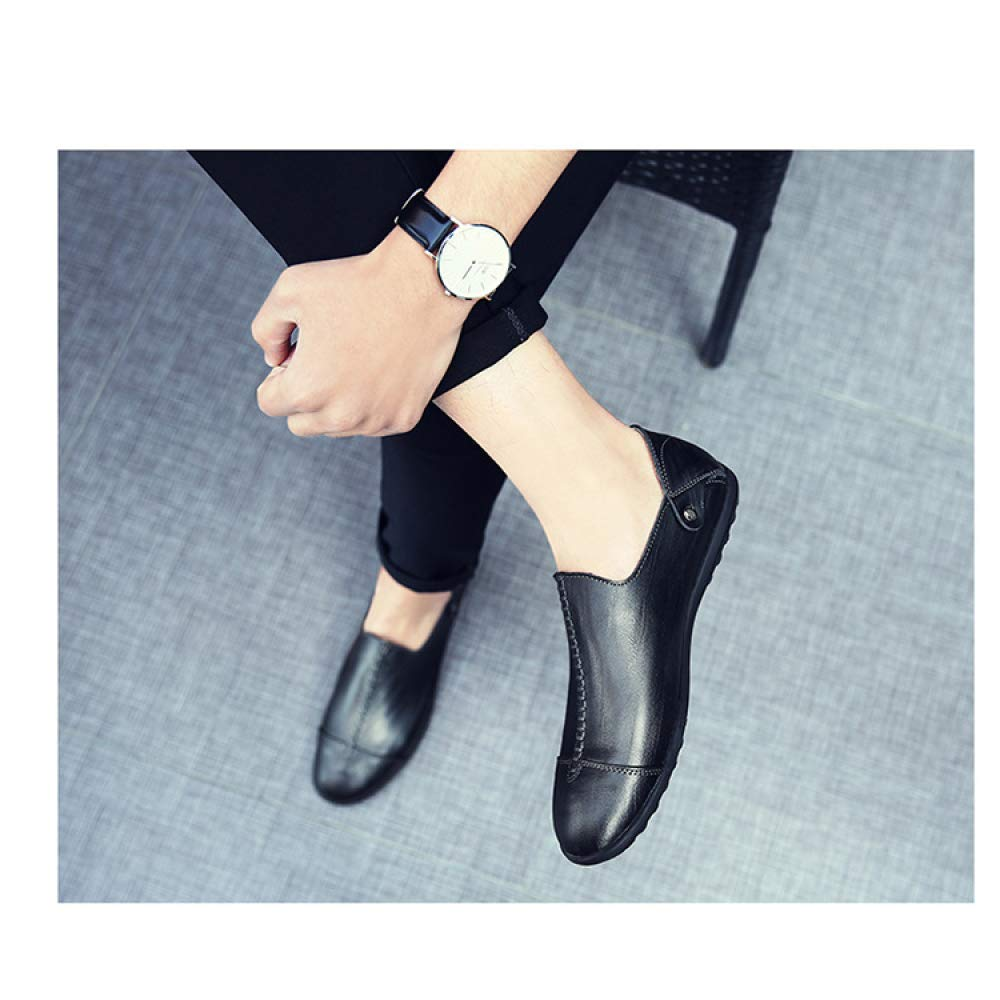 YXLONG Sommer Business Casual Lederschuhe Herrenschuhe der Ersten Schicht Leder Herrenschuhe Lederschuhe Britischen Männer Leder Einzelnen Schuhe schwarz fb69d5
