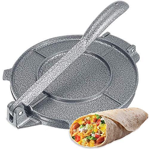 New 8 Inch Tortilla Press Maker Foldable Handle Non-Stick Tortilla Pie Maker Press Pan for Homemade Tortillas