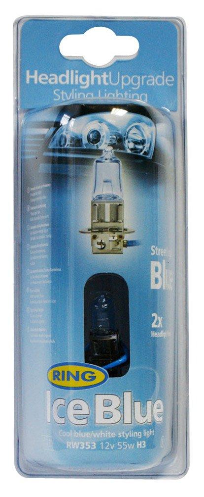 Ring Automotive RW353 H3 PK22s Ice Blue Halogen Headlamp,12 V, 55 W Ring Automotive Ltd.