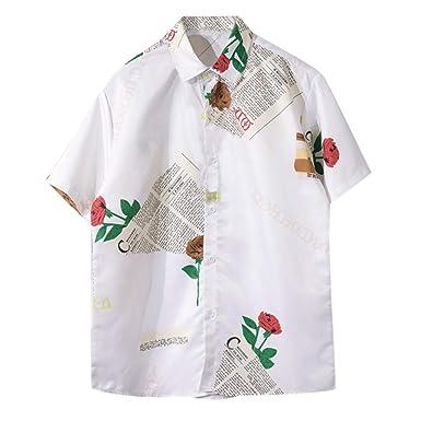 Fannyfuny camiseta Hombre Verano Polo Blusas Top Slim Fit ...