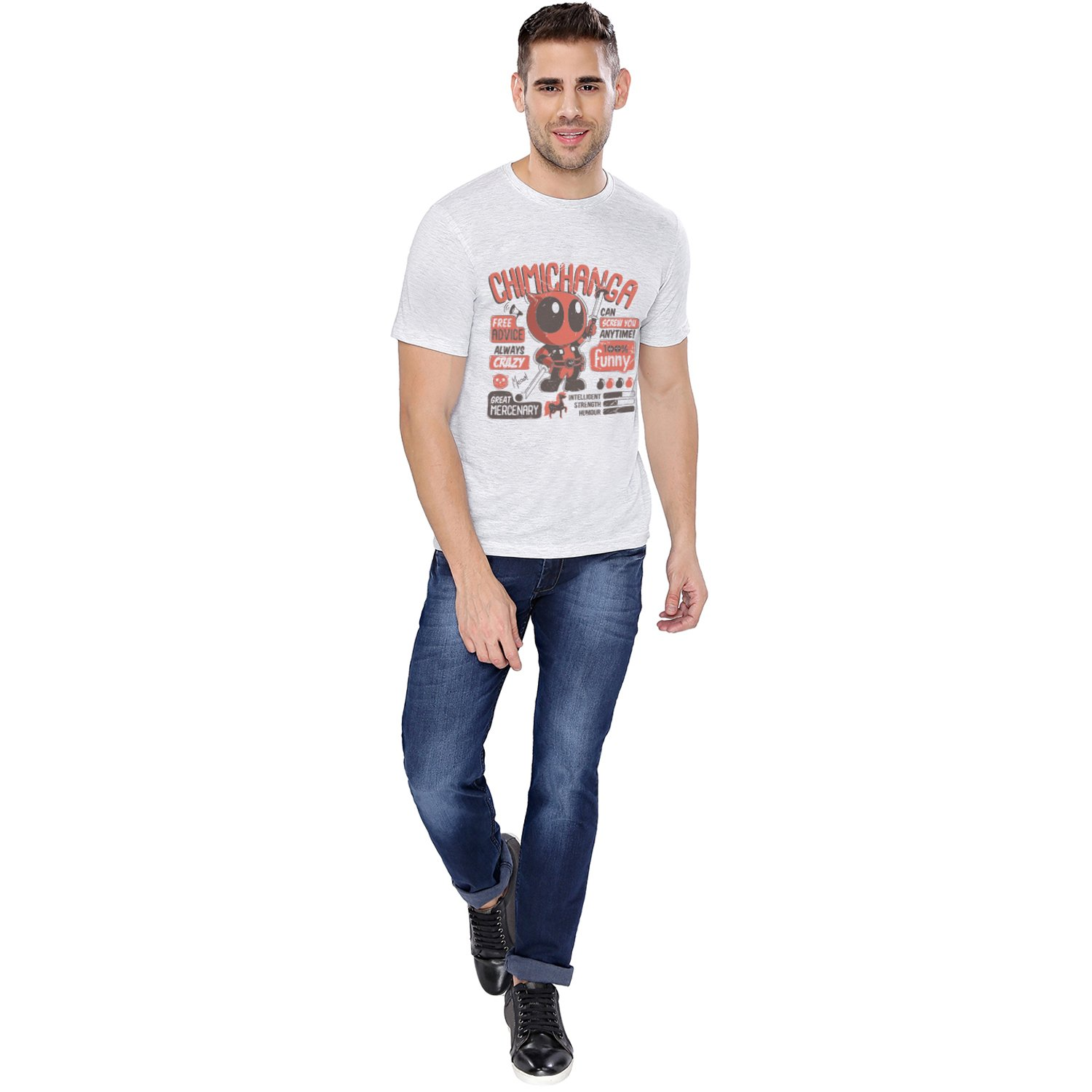 d2de83cb9 The Souled Store Deadpool: Chimichanga Superhero Cotton T-Shirt for Mens  from: Amazon.in: Clothing & Accessories