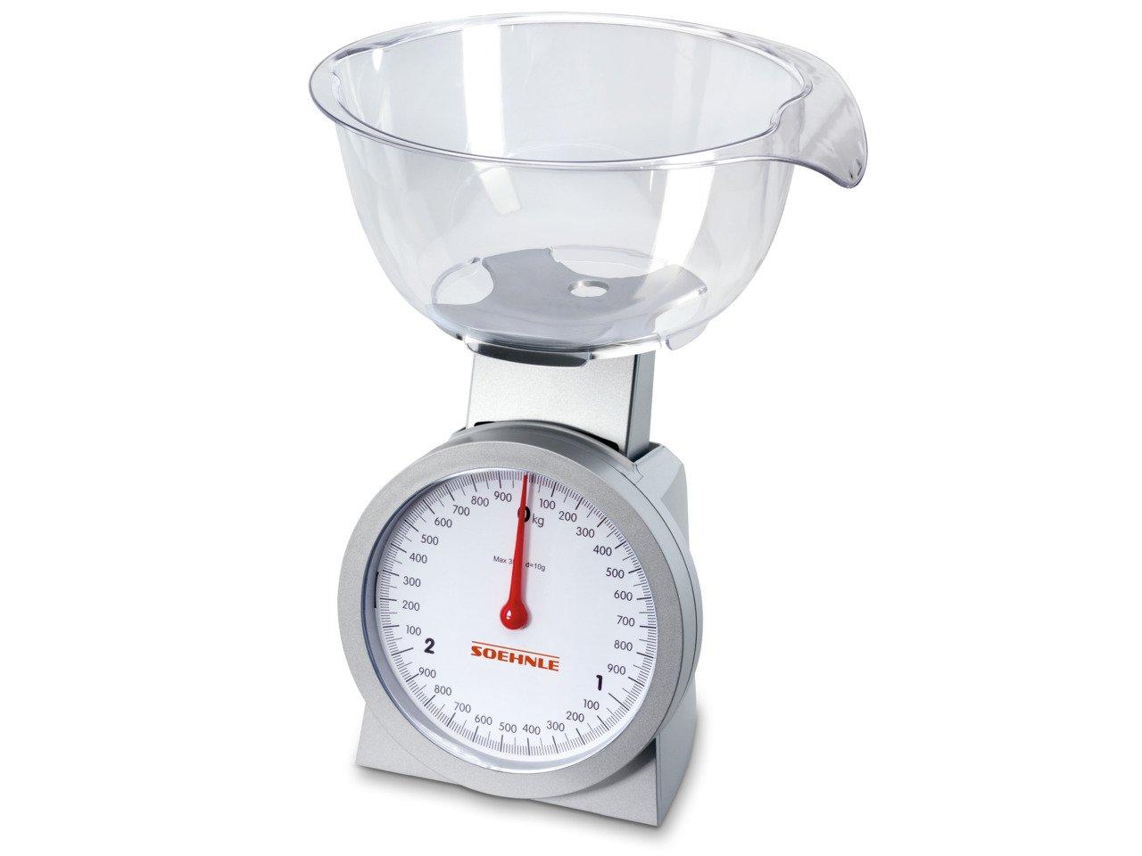 Soehnle 65041 Analoge Küchenwaage Actuell silber/glasklar: Amazon.de ...