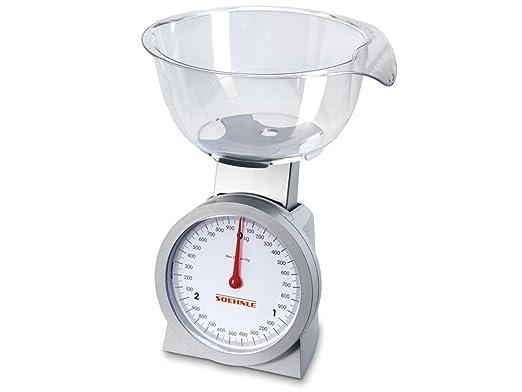 Soehnle Actuell - Báscula de cocina analógica con recipiente ...
