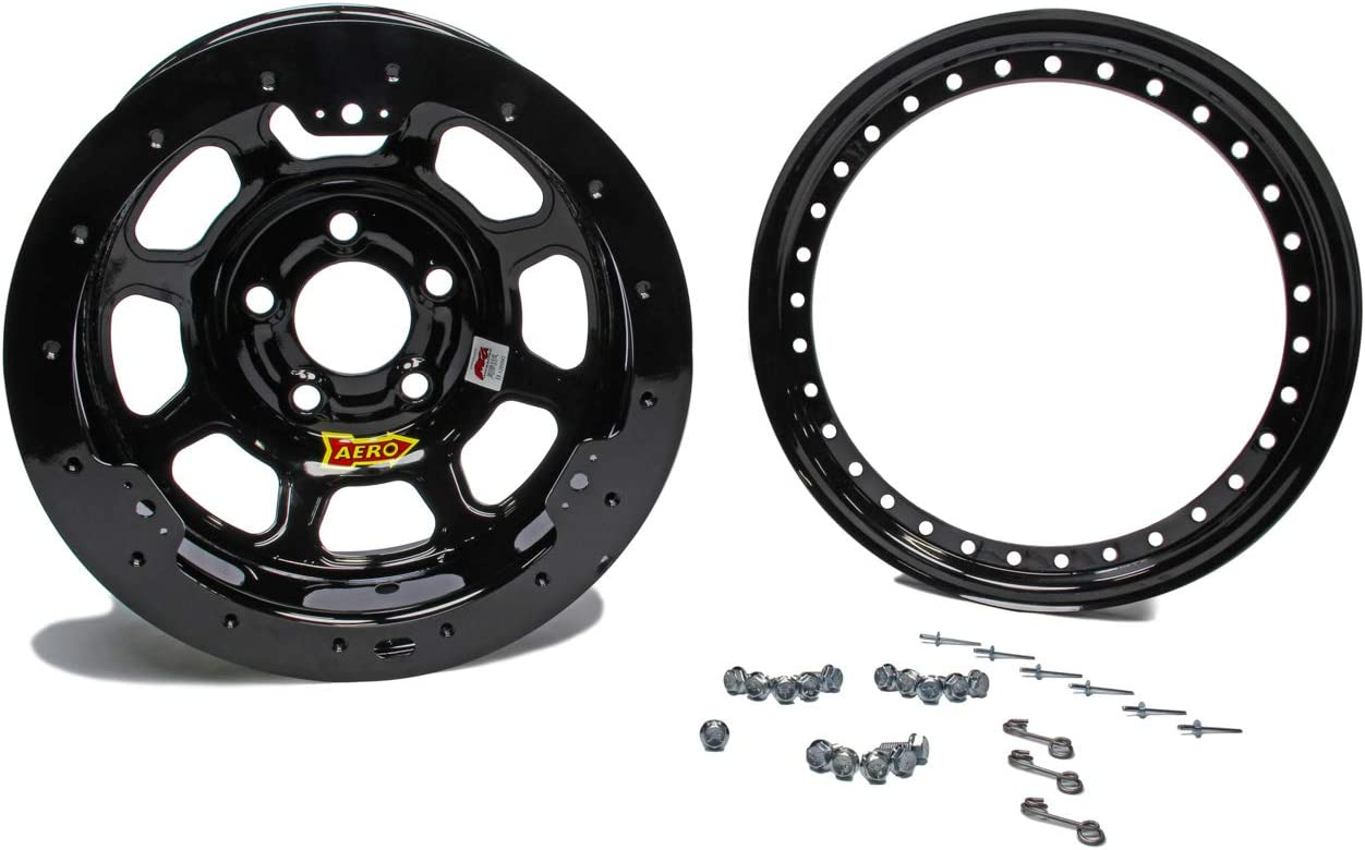 AERO RACE WHEELS 50-Series 15x10 in 5x5.00 Black Wheel P//N 50-105040