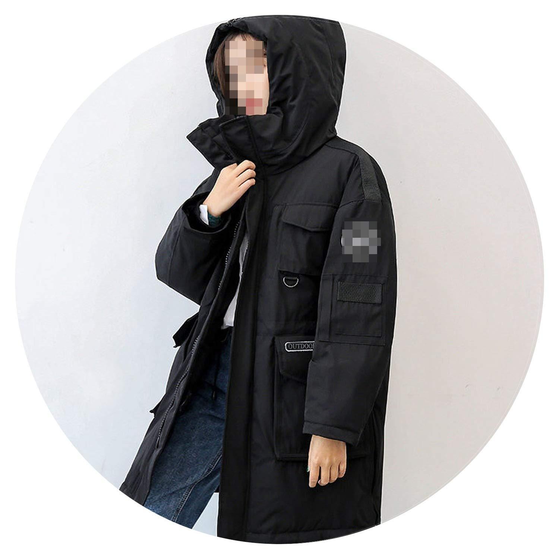 90/% Duck Down Jacket Women Canada Style Parka Winter Coat Women Long Coats Loose Overcoat