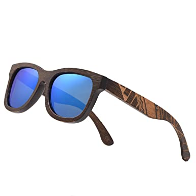 8242b73c56 Image Unavailable. Image not available for. Color  Bamboo Wood Polarized  Sunglasses ...