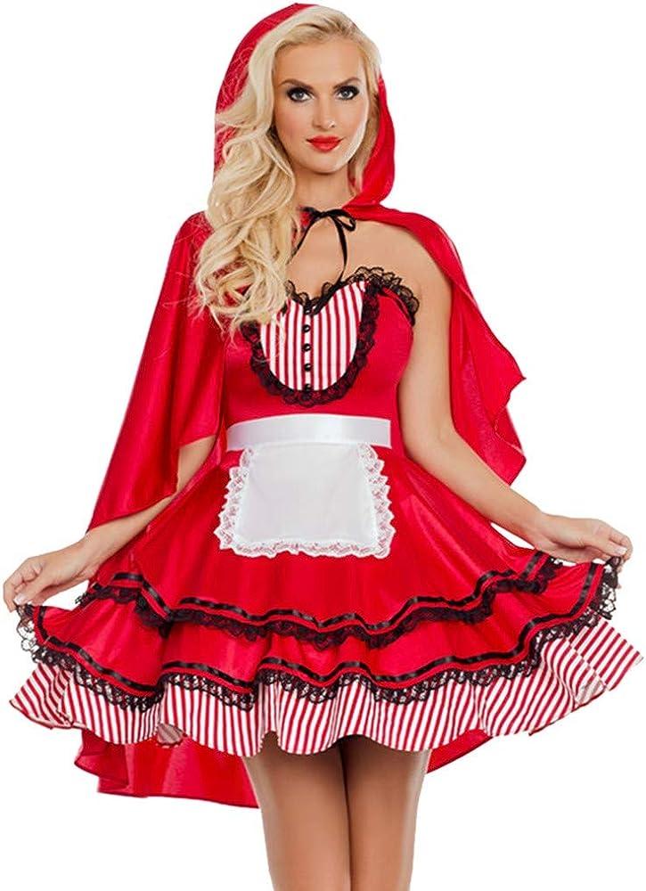 Vestidos de Halloween para mujer con capucha roja, capas, disfraz ...