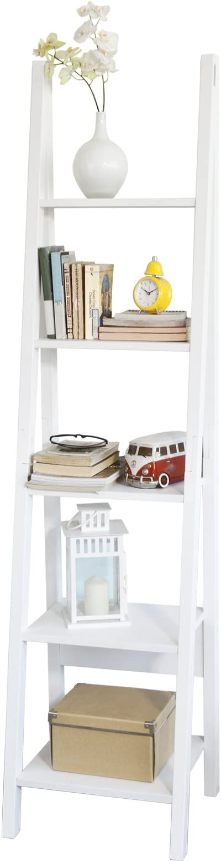 SoBuy Estanterias Librerias,Estanterias de Diseño,Estantería de Esquina,Blanco,FRG101-W, ES