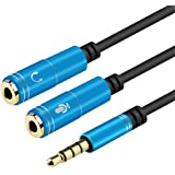 Mrotrida Divisor de Auriculares y microfono Cable de Audio 2 en 1 3.5mm Macho a 2 Hembra 3.5mm Splitter Jack Cable Auxiliar p