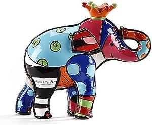 Romero Britto Giftcraft Mini Elephant Figurine, Ceramic, Multicoloured, One Size