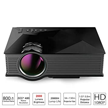 Amazon.com: Mini Led Projector Proyector, 2000 Lumens WiFi ...