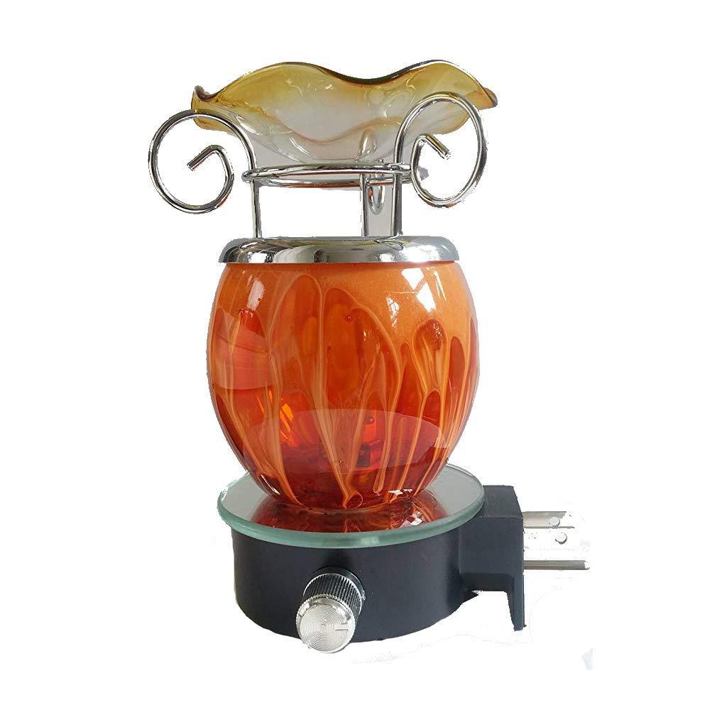 Orange Glass Marbled Tart or Oil Warmer OBI