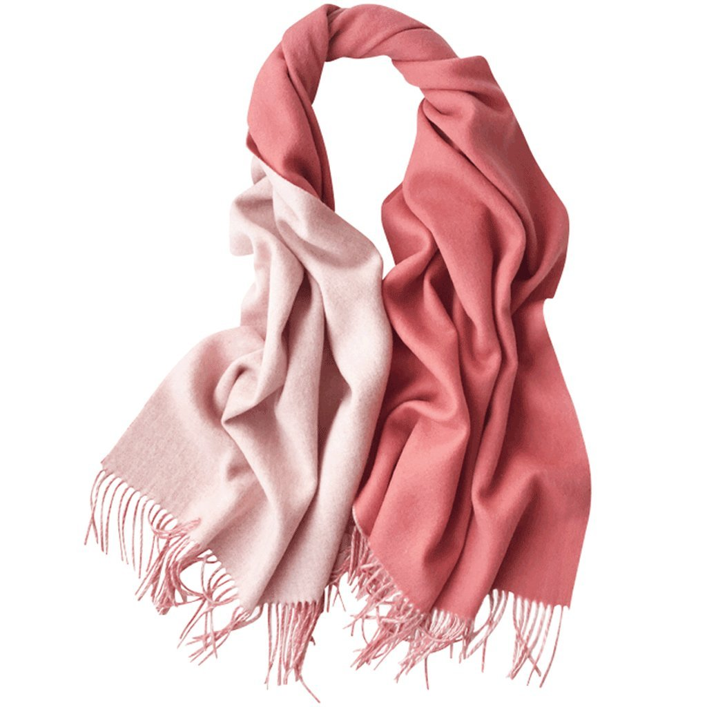 LBY Twocolor Thick Warm DoubleSided Solid color Lamb Hair Scarf Shawl Dualuse Models 00  70cm Scarf