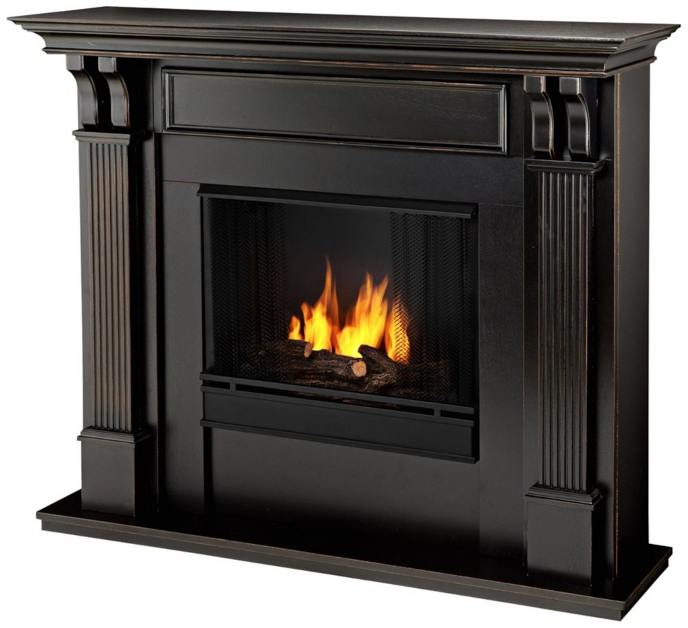 fireplace black electric media claremont convertible