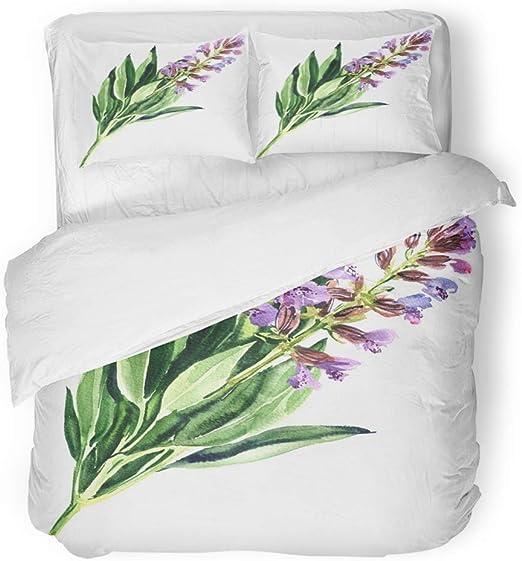 Duvet Cover Set with Pillowcases Watercolour Bloom Reversible Bedding Set