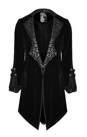 Et Gothique Punk Velours Baroques Noir Vampire Rave Veste Motifs Avec Homme Ouverture En pq1zP