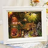 Flever Dollhouse Miniature DIY House Kit Creative Room Furniture Romantic Valentine's Gift(Home Squirrel-White)