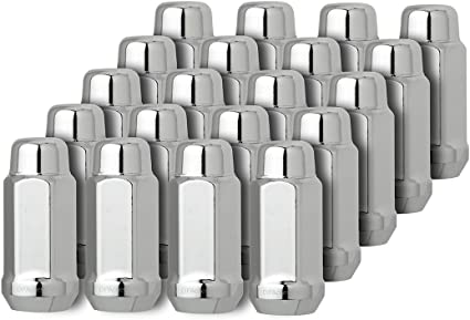 DPAccessories LCB3D3HCOCH04020 20 Chrome 9//16-18 Lug Nuts for Chrysler Dodge Mitsubishi RAM 6036433AA 611-204 Wheel Lug Nut
