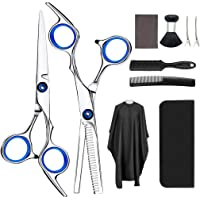 Professional Hair Cutting Scissors Set,10PCS Hairdressing Scissors Kit, Home Barber Scissors Kit, Thinning Shears with…