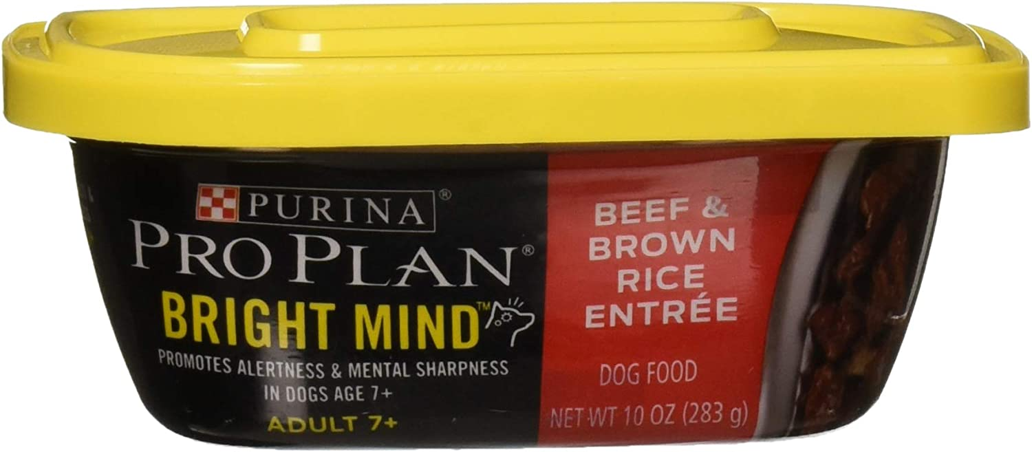 Nestle Purina Petcare 381179 8/10 oz Pro Plan Bright Mind Adult 7+ Beef & Brown Rice Entreé