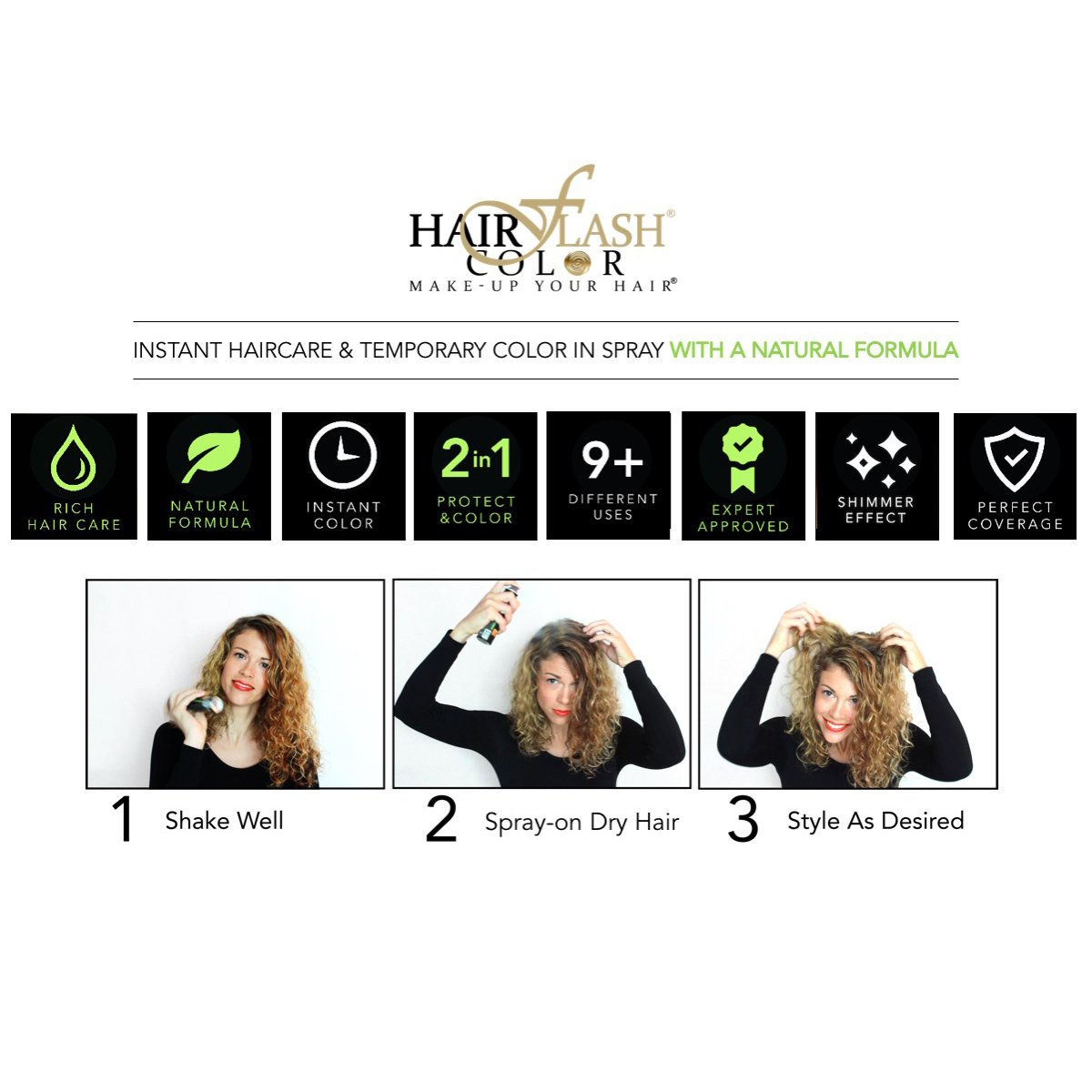Amazon Hair Flash Color Natural Formula Make Up For Your Hair