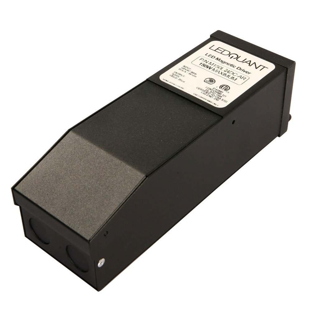 150 Watt Dimmable 24V DC LED Magnetic Transformer Driver by LEDQuant