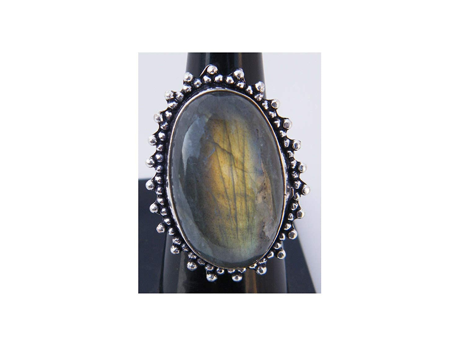 Handmade Ring Gemstone Ring Silver Plated Ring Size- 7.75 USA Women Jewelry Thebestjewellery Labradorite Ring BRS-3160