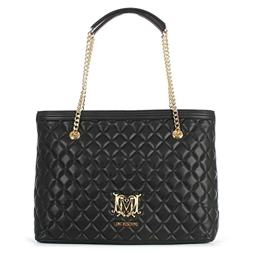40bce61c256a Love Moschino Chain Handle Black Quilted Shopper Black Leather   Amazon.co.uk  Shoes   Bags