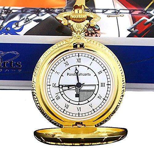 Bonamana Pandora corazones oro GP redondo reloj de bolsillo collar colgante Cosplay accesorios