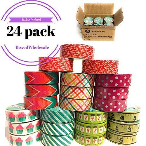 24rollos de cinta Washi Box Set | 'Chloe' variety pack–Cinta de papel decorativo para todos los DIY, manualidades,...
