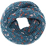 Simplicity Striped Infinity Scarf in Knit Pattern Crochet Circle scarves, Blue